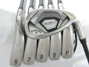 Used RH Callaway Rogue Iron Set 6-P,A Regular Flex Graphite Shafts