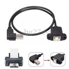 50cm USB 2.0 B Male to USB B Female Socket Printer Panel Mount Extension Cable