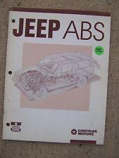 1989 Jeep Antilock Brake System ABS Manual Cherokee Wagoneer  MORE IN STORE U
