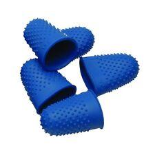 10 Quality Thimblettes Rubber Thimblette Blue Size 1 18mm Finger Cone Thimble