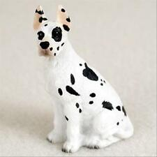 Great Dane Harelquin Cropped Dog Tiny One Miniature Small Hand Painted Figurine