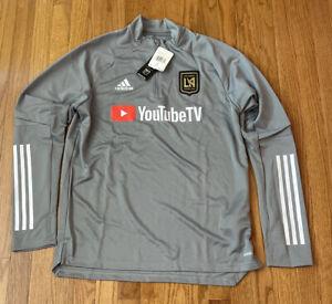 Men's LAFC adidas Gray Quarter-Zip Training Jacket MLS FS7071 Large NWT $85