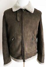 $8995 NEW LORO PIANA Brown Slim Fit Lambskin Shearling Jacket Coat Size Medium