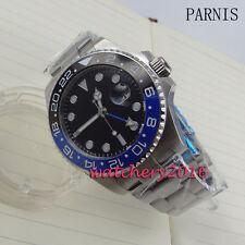 40mm parnis sterile dial Sapphire Luminous GMT automatic movement men's Watches