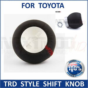 TRD Leather Gear Shift Knob Manual for TOYOTA Supra Corolla Hilux 86 Camry AT