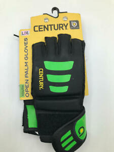 Century Youth Brave Open Palm MMA Training Bag Gloves - Large/XL - Black/Green