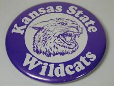 "VTG 1980s KANSAS STATE WILDCATS  3 1/2"" PIN BUTTON MITCH RICHMOND LON KRUGER ERA"