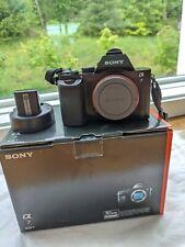 Sony Alpha A7 24.3MP Digital Camera - Black (Body Only) - Displays Camera Error