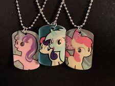 My Little Pony MLP Dog Tag Starlight Glimmer Apple Bloom Lyra And Bon Bon