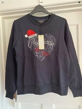Lipsy Prosecco Xmas Sweat Top Jumper Sz M 10 Bnwt