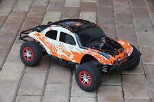 Custom Bug Body Muddy Orange/WB Shell for Traxxas Slash 1/10 Baja 6811 Truck Car