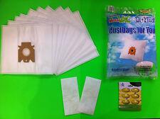 10 sacchetti filtro aspirapolvere adatto per Miele: S 4562 (sacchetto