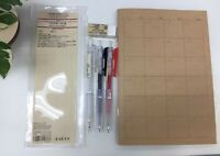 MUJI Pen, Pencil  note book, eraser  6  items set Free shipping