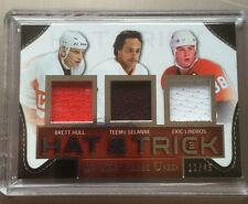 2014-15 Leaf ITG In The Game Used Hull Selanne Lindros Jersey /45 Hat Trick