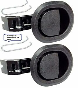 2x Recliner Replacement Parts @ Small Oval Black Plastic Pull Recliner Handle