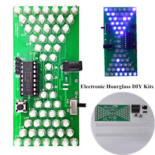 Electronic Hourglass DIY Kit Funny Electric Production Kits With LED Lamps