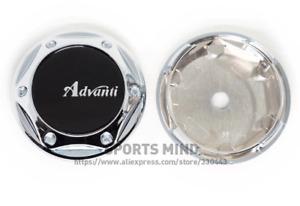 4pcs 68mm Advanti Logo Wheel Center Caps Hubcaps Rim Caps Badges Black Silver