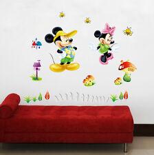 DISNEY MICKEY MINI MOUSE KIDS NURSERY- Printed Vinyl Wall Sticker Decor Transfer
