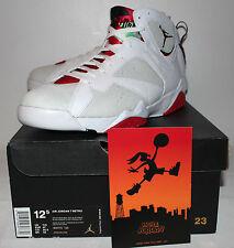 Air Jordan Retro 7 VII Hare Grey Tan White Red Sneakers Men's Size 12.5 New