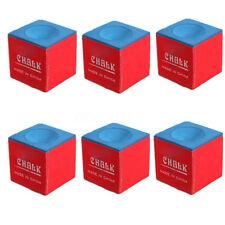 12X Craie Billard Table Queue Snooker Cue Chalk Triangle Accessoire Bleu Rouge