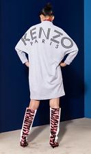KENZO Jumper dress sweater M grey gray black V neck long sleeve sweatshirt BNWT