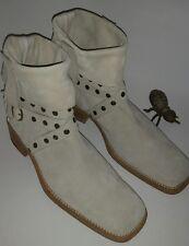 Cesare Paciotti Bone Suede Ankle Boots Men's US12? Italian Designer EUC