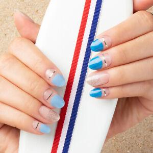 Real Gel Nail Strips /Nail Wraps /Nail Stickers/US Seller