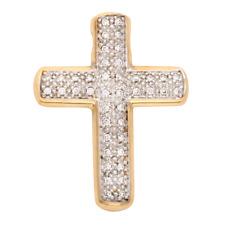 Kreuz Kettenanhänger Gold 585 mit 42 Diamanten