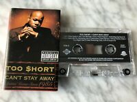 Too Short Can't Stay Away Cassette Tape 1999 Jive Jay-Z, Lil' Jon, Scarface RARE