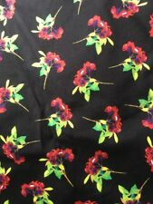 M&S Skirt Limited Collection Size 6 Black Floral Pencil Skirt Zip Sexy