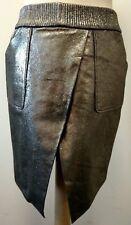 Karl Lagerfeld Grey Leather Skirt UK 6 Ref. 123