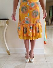 Piazza Sempione Summer Yellow Skirt In Size IT 40