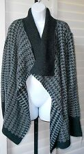 Apt.9 Charcoal/Gray Open Front Knit Cardigan Sweater Sz XL NWT