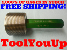 3 3/16 12 UNS 3A SET THREAD PLUG GAGE 3.1875 GO ONLY P.D. = 3.1334 TOOLING TOOLS