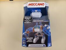 Meccano Micronoid Blue Basher Interactive Robot Building Set 139 Pieces New