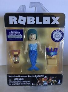 """Roblox Neverland Lagoon Crown Collector Mermaid Action Figure 4"""" Toy Online Code"""