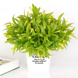 6Pcs Artificial Flower Plants Morning Glory Shrubs Bundles Faux Plants F