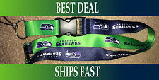 NEW NFL Official Team Colors REVERSIBLE KEYCHAIN LANYARD - Seattle Seahawks