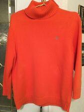 Ralph Lauren Women's Bright Orange 100% Cotton Sweater, One Owner,Taken Care Of