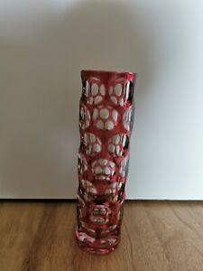 Nachtmann Bleikristall Überfang Vase Rot