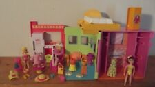 Polly Pocket 2002 Sparkle Apartment Playset Folding Take Along Clothes Lot 75