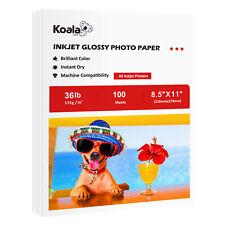 Koala 100 Sheets 8.5x11 Premium Glossy Inkjet Printer Photo Paper Canon Epson HP