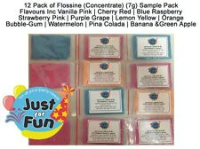 12 x Flavour Pack of Flossine (Concentrate) (7g) Cotton Candy Fairy-Floss Sugar
