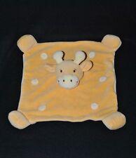 Peluche doudou girafe vache plat ALTHANS CLUB jaune 2 tons TTBE