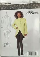 Vogue Pattern V1490 Ms NICOLA FINETTI Lined Dress w//Deep V-Neck /& Shaped Hemline