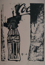 Limited POP ART edition silkscreen serigraph, Cola, signed Andy Warhol w DOCS