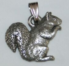 Squirrel Harris Fine Pewter Pendant USA Made