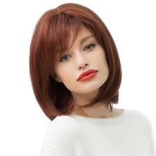 Femmes Moyenne Long Naturellement Droite Cheveux Humains Perruque Bob Pleine