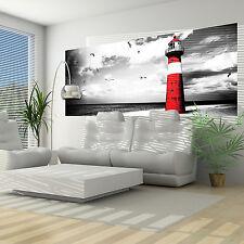 VLIES Foto Poster Wandbild Tapete Fototapete Poster STRAND MEER ROT 3FX2026VEP