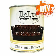 ReLuv Leather Renew Paint 500ml Mahogany Couch Sofa Seat Touch Up or Re Paint